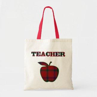 Pretty Plaid Apple Teacher s tote bag