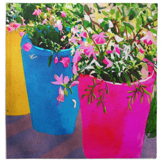 Pretty Plant Pots Napkin