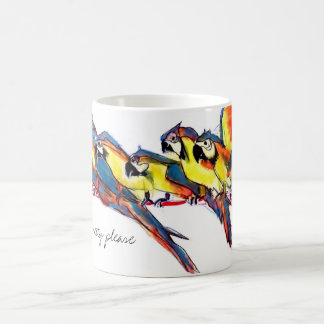 Pretty please macaw parrots coffee mug