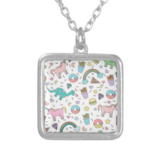 Pretty Please With Sprinkles On Top Silver Plated Necklace
