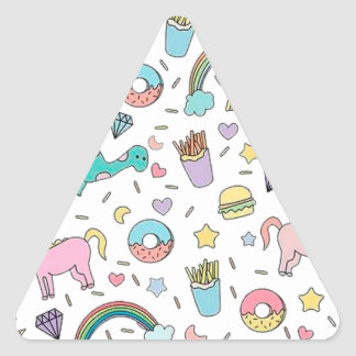 Pretty Please With Sprinkles On Top Triangle Sticker
