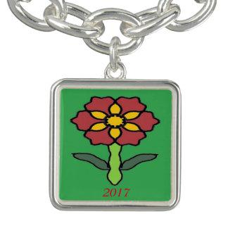 Pretty Poinsettia Bracelets