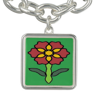 Pretty Poinsettia Charm Bracelet