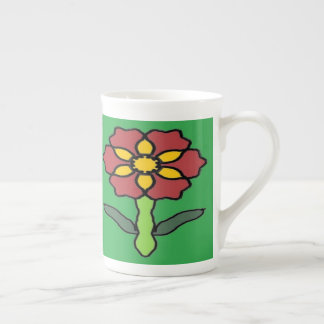 Pretty Poinsettia Tea Cup