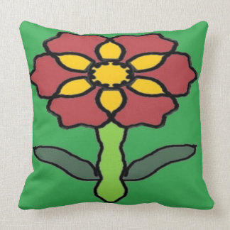 Pretty Poinsettia Throw Pillow
