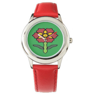 Pretty Poinsettia Watch