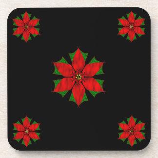 Pretty Poinsettias Coaster