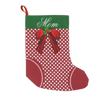Pretty Polka Dot Custom Christmas Stocking