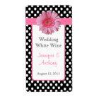 Pretty Polka Dot & Daisy Wedding Wine Labels