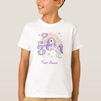 Pretty Pony 3rd Birthday Personalized T-Shirt