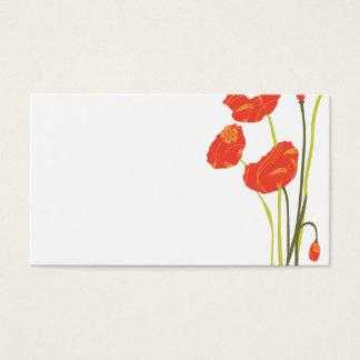 Pretty Poppies Escort Card