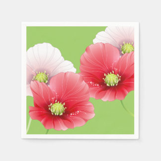 Pretty Poppies Floral Disposable Napkin