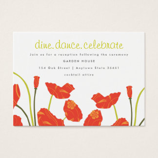 Pretty Poppies Reception & Informational Card