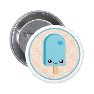 Pretty Popsicles Aqua Blue Kawaii Buttons