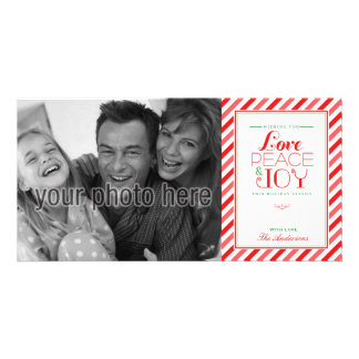 Pretty Preppy Holiday Photo Card