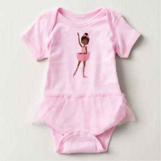 Pretty Princess African American Ballerina Baby Bodysuit