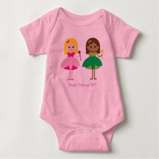 Pretty Princess BFF (Best Friends Forever) Baby Bodysuit