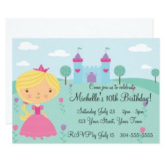 Pretty Princess Birthday Party Card