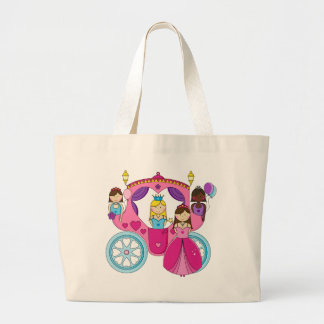 Pretty Princess Carriage Large Tote Bag