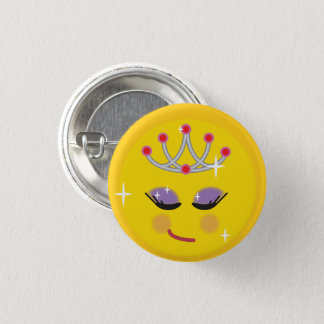 Pretty Princess Emoji 1 Inch Round Button