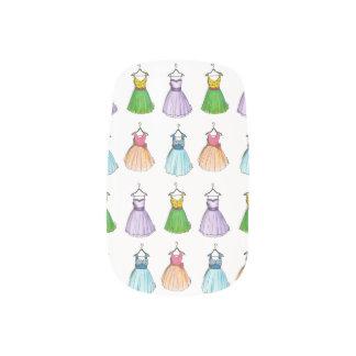Pretty Prom Party Dresses Retro Vintage Style 50s Minx Nail Art