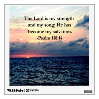 PRETTY PSALM 118 14 SUNRISE OVER THE OCEAN WALL STICKER