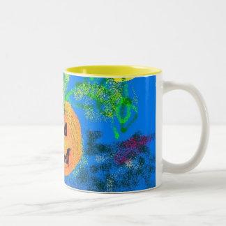 Pretty Pumpkin Two-Tone Coffee Mug