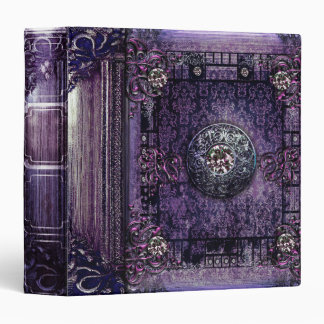 Pretty Purple Ancient Tome Medieval Magic Book Vinyl Binders