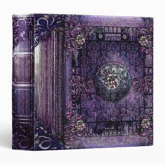 Pretty Purple Ancient Tome Medieval Magic Book Vinyl Binders