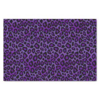 Pretty Purple and Black Leopard Animal Print Tissue Paper