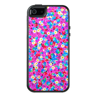 Pretty Purple and Pink Floral Design OtterBox iPhone 5/5s/SE Case
