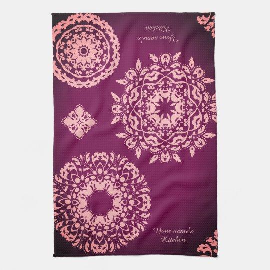 Pretty purple and pink kitchen towel