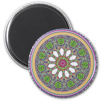 Pretty Purple and White Daisy Flower Tile Mosaic Magnet