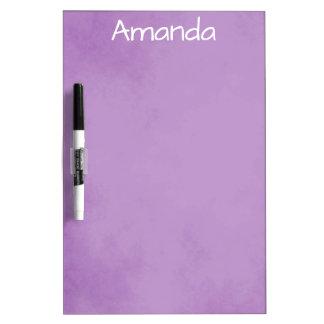 Pretty Purple and White Dry Erase Board