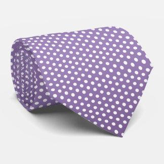 Pretty Purple and White Polka Dots Tie
