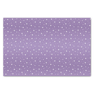 Pretty Purple and White Stars Tissue Paper