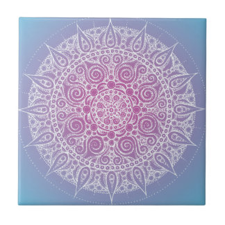 Pretty Purple/Blue Oriental Design Tile