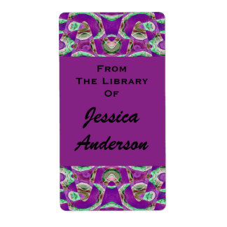 pretty purple bookplates