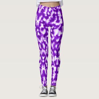 Pretty Purple Cat Fur Element Leggings