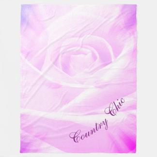 Pretty purple Country Chic design Fleece Blanket