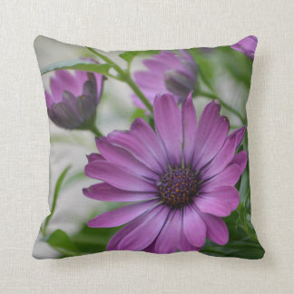 Pretty Purple Daisy Throw Pillow