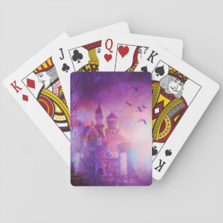 Pretty Purple Fairy Tale Fantasy Castle Playing Cards