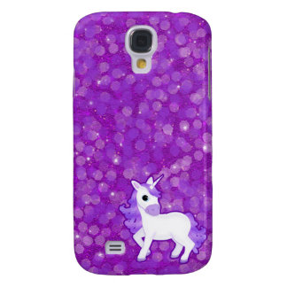 Pretty Purple Fantasy Unicorn and Glitter Pattern