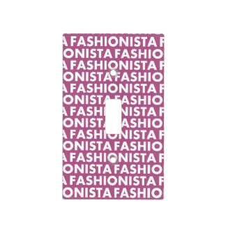 Pretty Purple Fashionista Text Cutout Light Switch Cover