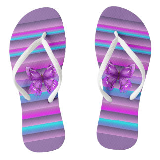 Pretty Purple Flip Flops