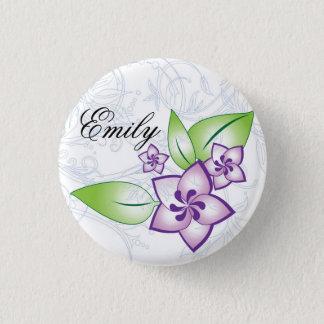 Pretty Purple Flower Flair 1 Inch Round Button
