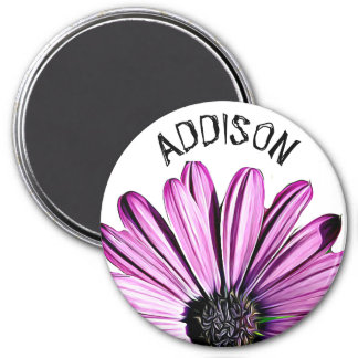 Pretty Purple Flower Name Personalized Magnet