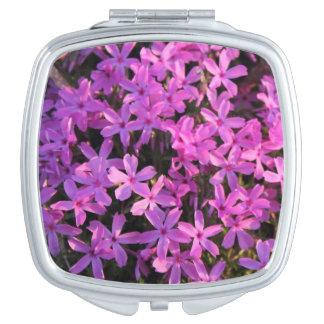 Pretty Purple Flowers Compact Mirror