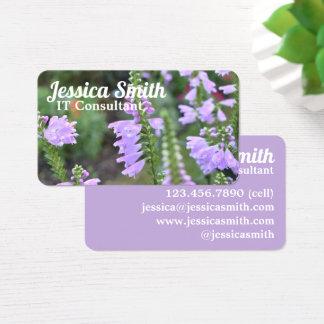Pretty Purple Flowers Original Garden Photography Business Card