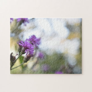 Pretty Purple Flowers Original Garden Photography Jigsaw Puzzle